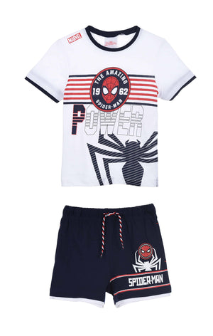 Shorts Spiderman Shorts og T-skjorte - White/Navy