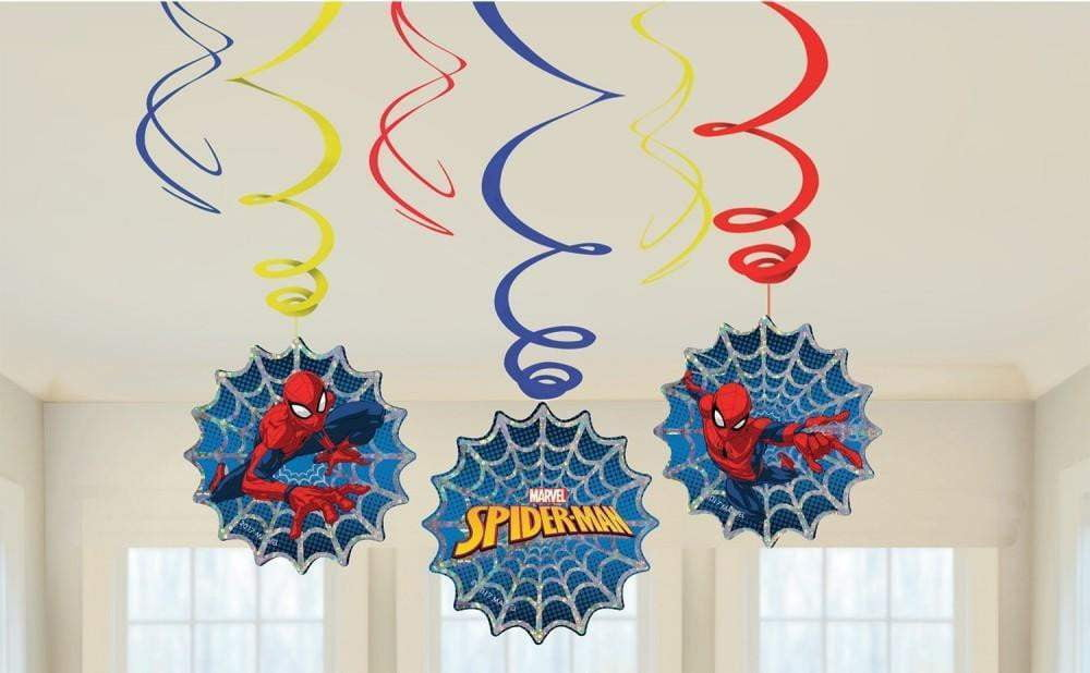 Spiderman Swirls - 6 stk