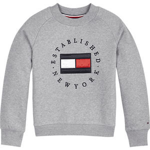 Sweatshirts Tommy Hilfiger HERITAGE LOGO CREW Genser - Grey Heather