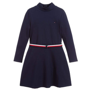 Tommy Hilfiger ESSENTIAL SKATER LS Dress - Navy