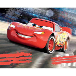 Disney Cars Wall Mural - 12 Paneler - Shop4kids.no