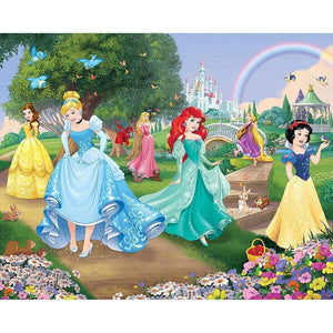 Disney Prinsesse Wall Mural -12 Paneler - Shop4kids.no