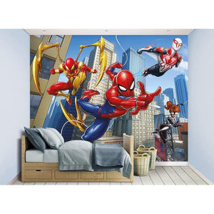 Spiderman Wall Mural - 12 Paneler