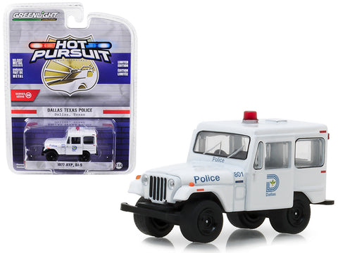 "1977 Jeep DJ-5 Dallas, Texas Police ""Hot Pursuit\"" Series 29 1/64 Diecast Model Car by Greenlight"