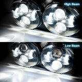Dual LED Projector Headlight Daymaker Lamps For 1998-2013 Harley FLTR Road Glide
