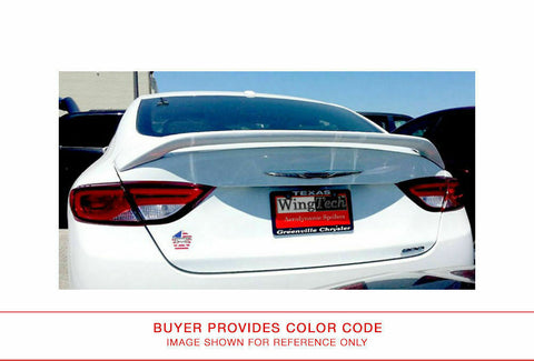 Painted Rear Spoiler No Light for CHRYSLER 200 2015 & UP POST Pre-Drilled