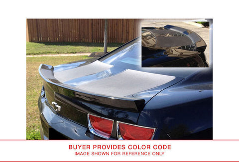 Painted Custom Style Rear Spoiler No Light CHEVROLET CAMARO MINI-BLADE 2010-2013