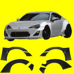 FITS: 13-16 SCION FRS GT86 RBV2 STYLE WIDE BODY FENDER FLARES - FRP