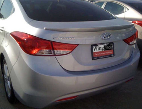 Painted Custom Style Spoiler NO LIGHT for HYUNDAI ELANTRA 2011 & UP LIP NO DRILL