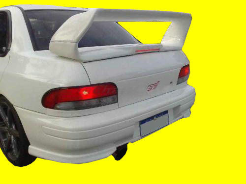 FRP WING FOR 93-00 SUBARU IMPREZA WRX 6TH GC8 STI STYLE REAR SPOILER W/  BRAKE