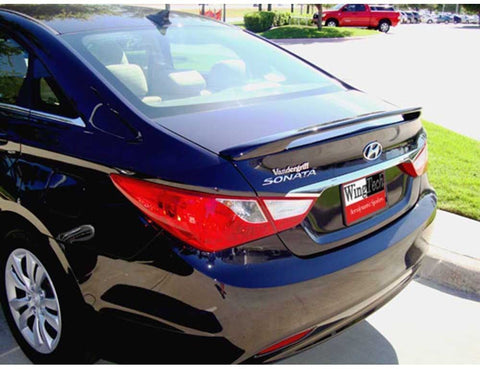Painted FRP Spoiler NO LIGHT for HYUNDAI SONATA  2011-2014 POST Pre-Drilled