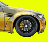 For BMW E92 M3 GTR-S RIVET ON WIDE BODY KIT 2DR '07-'13 FRP FENDER FLARES LB STYLE