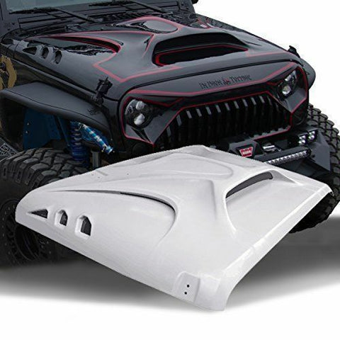 Angry Beast Monster Fiberglass Dome Style Hood for Jeep Wrangler 2007-2018