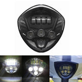 Black 60W CREE LED Headlight For Victory Cross Country, Hammer, Vegas Motorcycle