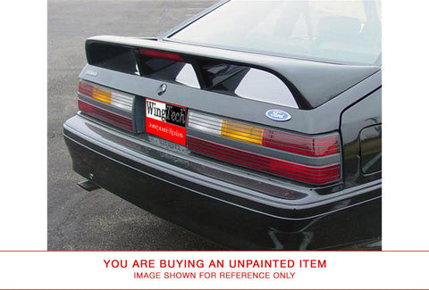 Unpainted Cobra Style Rear Spoiler For FORD MUSTANG LIGHT CUT OUT 1979-1993