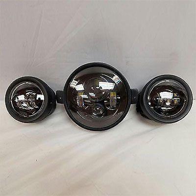 7″ Kawasaki Voyager & Vaquero Headlight Dual 4.5″ – 4 1/2″ Black LED Fog Lights