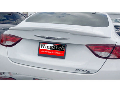 Painted Custom Style Spoiler NO LIGHT For CHRYSLER 200 2015 & UP LIP Fiberglass