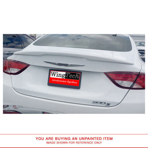 Unpainted Custom Style FRP Spoiler NO LIGHT for CHRYSLER 200 2015 & UP LIP