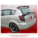 Unpainted Spoiler NO LIGHT For PONTIAC VIBE 2002-2008 ROOF Pre-Drilled