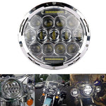 "7"" 75W LED Projector Chrome Headlight and Passing Lights Fit for Harley Touring"