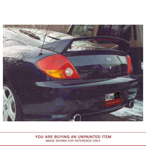 Unpainted FRP Spoiler LIGHTED For HYUNDAI TIBURON 2003 & UP POST Pre-Drilled