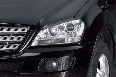 For W164 EYELIDS EYEBROWS MERCEDES ML320 ML350 ML500 ML63 SPOILER HEADLIGHT AMG