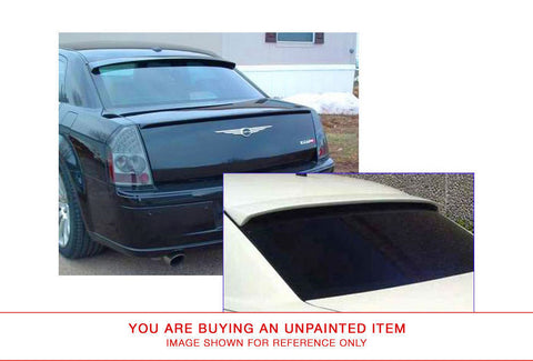 Unpainted Rear Window Spoiler for CHRYSLER 300 2005-2010 WINDOW FIBERGLASS