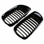Front Kidney Grilles for BMW E46 2001-2005 4 Door 4D 3 Series Car Front Bumper
