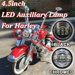 4.5″ Auxiliary Chrome Spot Passing HID LED Fog Lights AUX PAIR 4-1/2″