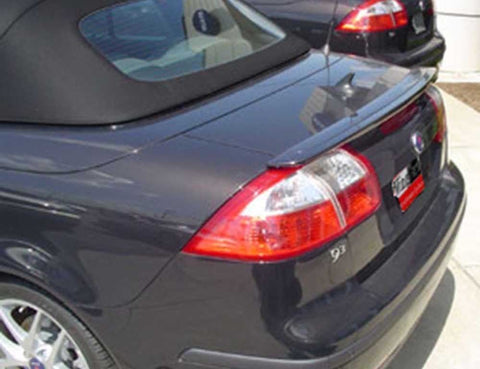 Painted Factory Style Spoiler for SAAB 9.3 CONVERTIBLE 2004 & UP LIP Pre-Drilled
