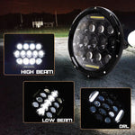 "Black 7"" 75W Round LED Projector Daymaker Headlight for Harley Street Glide FLHX"