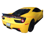 For Ferrari 458 Italy LW Carbon Fiber CF Rear Trunk Spoiler