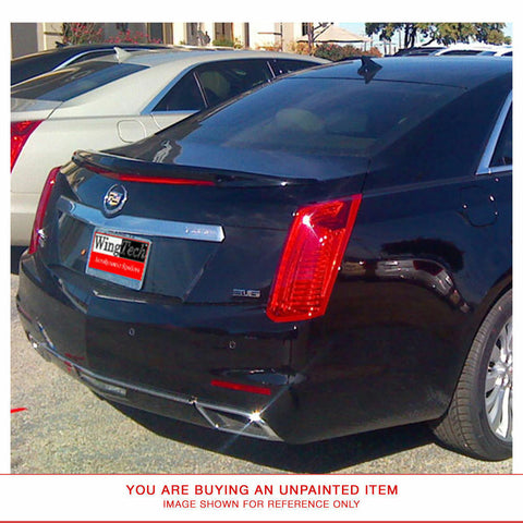 Unpainted Custom Style FIBERGLASS Spoiler for CADILLAC CTS SEDAN 2014 & UP LIP