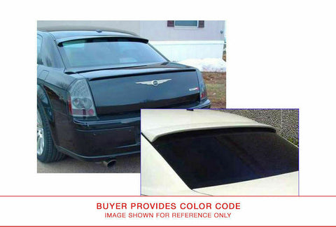 Painted Rear Window Spoiler for CHRYSLER 300 2005-2010 WINDOW FIBERGLASS