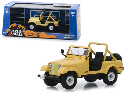 "1980 Jeep CJ-5 Yellow (Julie Roger\'s) ""Charlie\'s Angels\"" (1976-1981) TV Series 1/43 Diecast Model Car  by Greenlight"