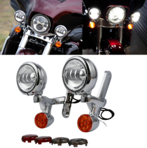 Foglights + Turn Signal Set Fits Screaming Eagle Ultra Classic