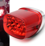 BLACK OR RED Set of 2 LED Tail Light for Harley Davidson Tri Glide Trike
