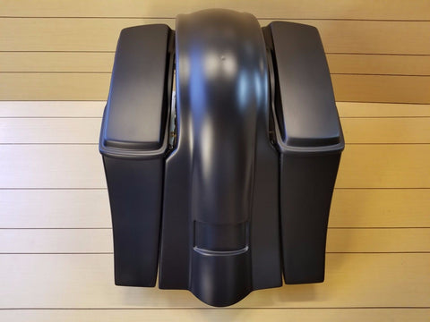 Harley Davidson Softail Drop Back Extended Saddlebags Fender and Lids!!!