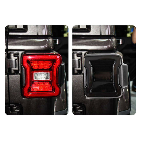 Pair Smoked LED Tail Lights For 18-19 Jeep Wrangler JL Break Reverse Turn Signal