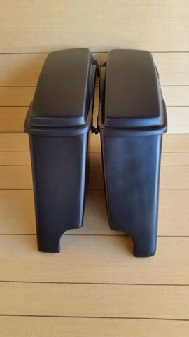 "HARLEY DAVIDSON 4"" EXTENDED STRETCHED SADDLEBAGS AND LIDS INCLUDED 96-2013"
