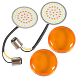 LED Pair 1157 Amber Bullet Style Turn Signal Light for Harley