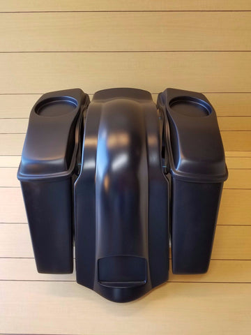 "HARLEY DAVIDSON 4"" EXTENDED SADDLEBAGS LIDS AND REAR FENDER TOURING 98-2013"