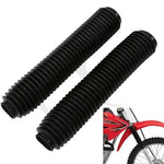 Black Universal Off-Road Fork Gaiters Gaitors For HONDA CR80 CR125 CR250 CRF250