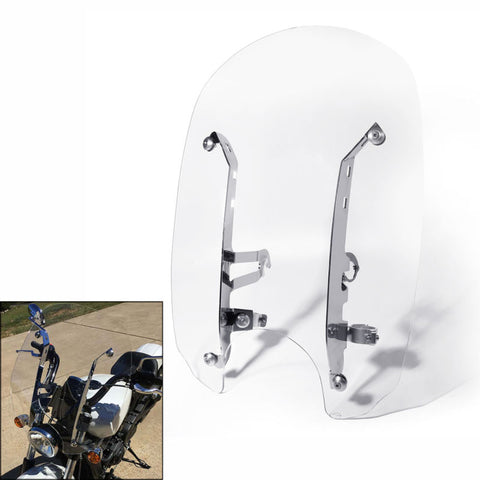 Motorcycle Motorbike Clear Windshields Windscreen W/ Mounting hardware For Indian Scout Models 15-16 Scout Sixty 16-18