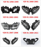 Motorcycle Motorbike Front Headlight Head Light Lamp Assembly For Yamaha YZFR1 YZF R1 1998-2011 New