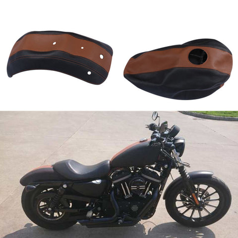 Motorcycle bike Fuel Gas Tank Leather Cover and Fender Protector For Harley Sportster 883 2009-2011