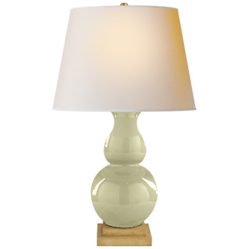 Gourd Form Large Table Lamp