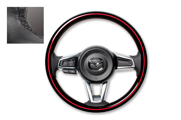 "*FREE USA DOMESTIC SHIPPING! 2016- Mazda MX-5 Miata Roadster ND  - LHD or RHD  ""REAL"" brand Premium Wooden Steering Wheel  (Factory Airbag Compatible)"