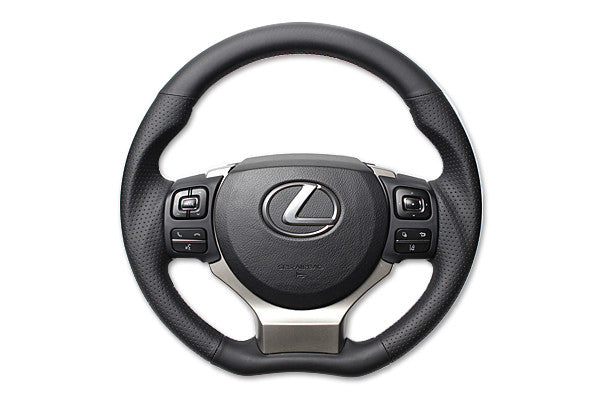 "*FREE USA DOMESTIC SHIPPING! 2014- Lexus  RC, RC F- LHD or RHD  ""REAL"" brand Premium Leather Gun Grip Steering Wheel  (Factory Airbag Compatible)"