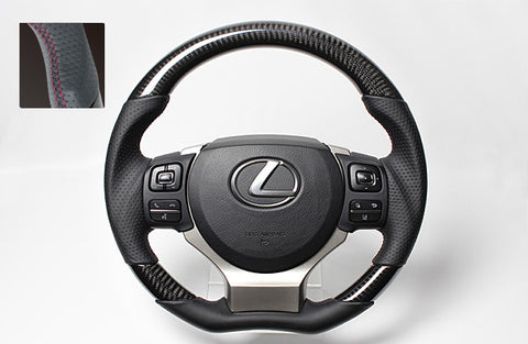 "*FREE USA DOMESTIC SHIPPING! 2015- Lexus  GS F- LHD or RHD ""REAL"" brand Premium Leather Gun Grip Steering Wheel  (Factory Airbag Compatible) - Stage 10 Online"